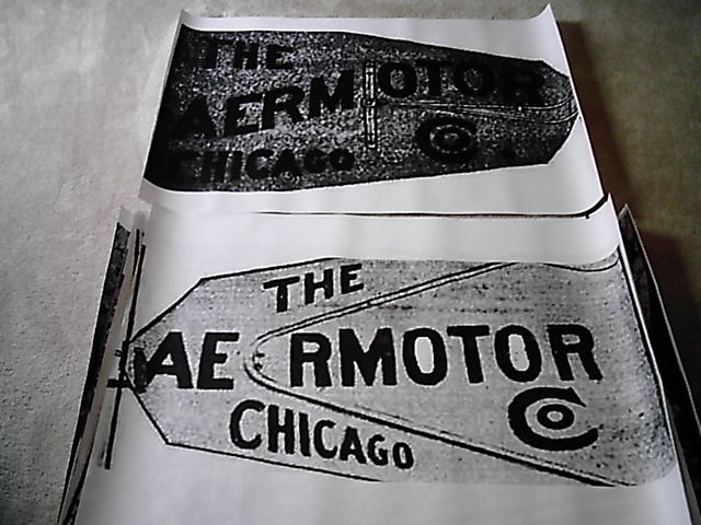 8ft Aermotor A702 602 Windmill Tail Vane Logo Layout for Stencil