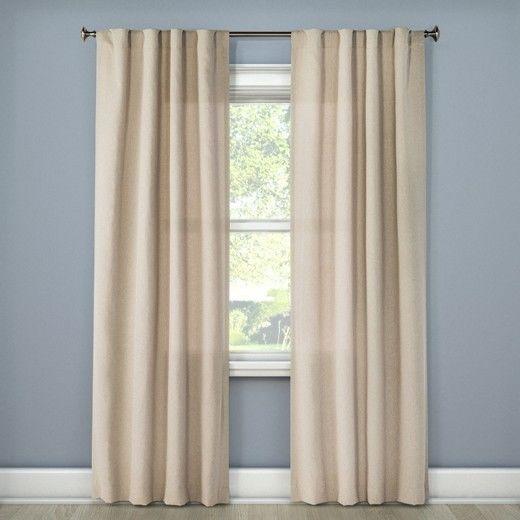 Room Essentials Heathered Curtain Panel Tan 42