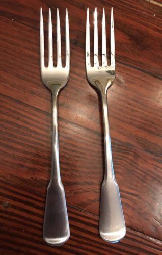 2 Oneida Colonial Boston / Minute Man  Dinner Forks Stainless Steel