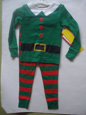 CHILDREN'S HOLIDAY ELF SUIT PAJAMAS 3T NEW