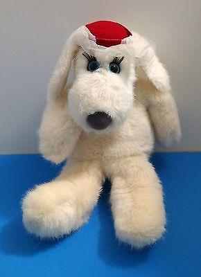 1981 Dakin FiFi La Femme White Dog w/Veil Hat Francesca Hoerlein 13