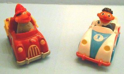 Vintage Diecast Lot,Ernie 1981 Fire Truck by Hasbro & 1983 Race Car by Playskool