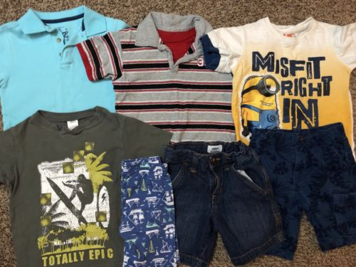 Boys Size 3T Lot Of Spring Summer Clothes Outfits Shorts Tops