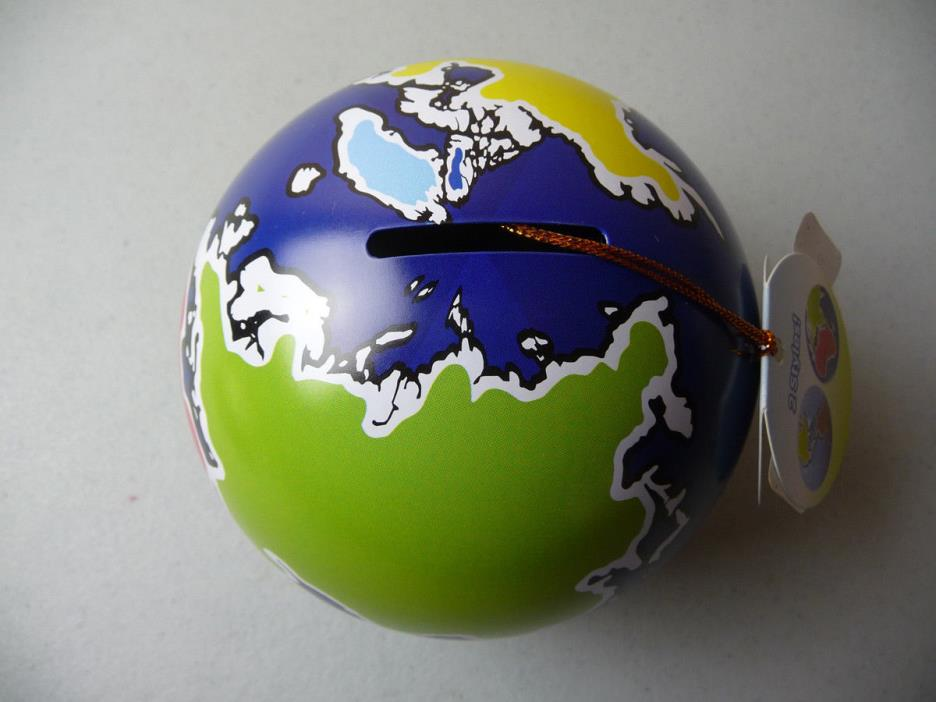 New Metal Globe Earth MONEY BANK  4