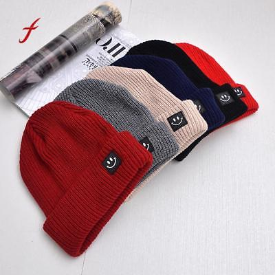 Smiling Face Knitted Cap