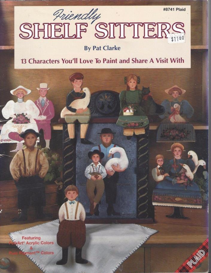 Shelf Sitters Decorative Tole Painting Pattern Book by Pat Clarke