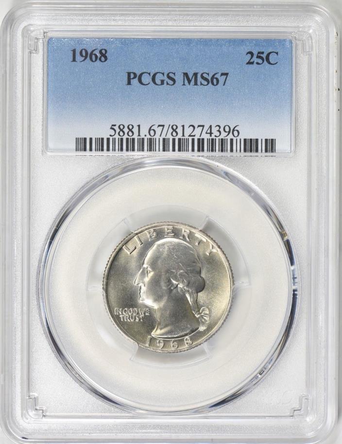 1968 Washington Quarter PCGS MS-67