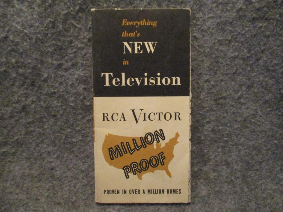 Vintage RCA Victor Television Advertising Brochure Folded Booklet Poster 2A5965