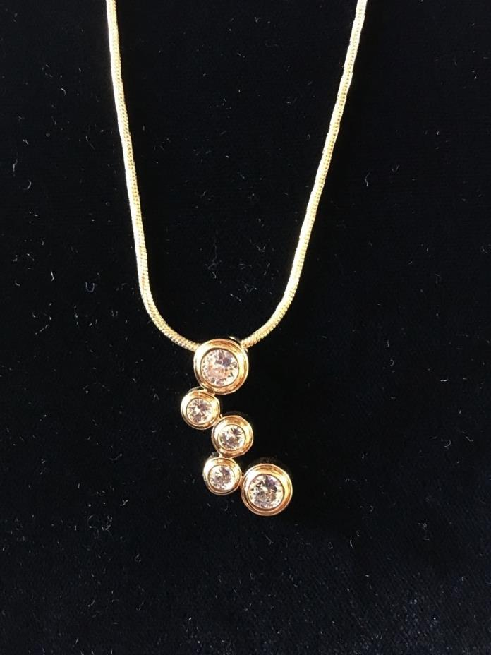 Necklace 14K Gold And Rhodium 18
