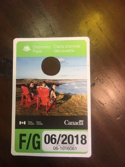 Canada National Discovery group pass Expiration 06-2018 for all  parks