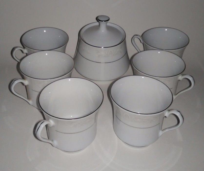 Tea Coffee Set 6 Cups And 1 Sugar Dish The Regent Collection Crown Ming