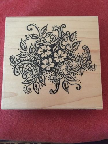 Stampendous Rubber Stamp Beaded Scrollwork 2001 W034 WM New un-inked