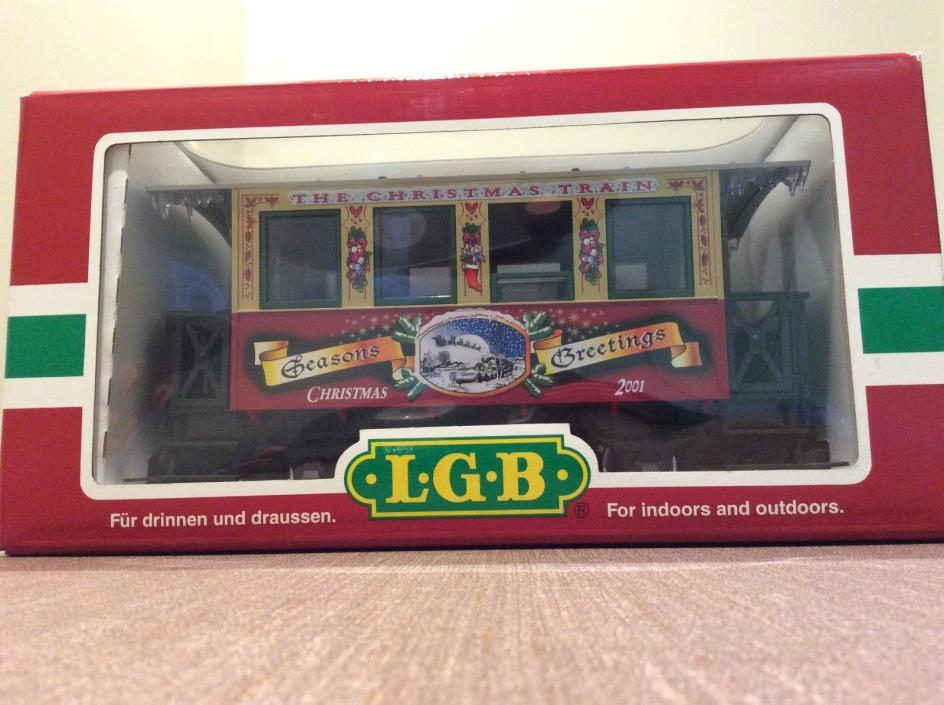 LGB Christmas Car 2001- 33074 (Excellent Condition/In Original Box) BRAND NEW