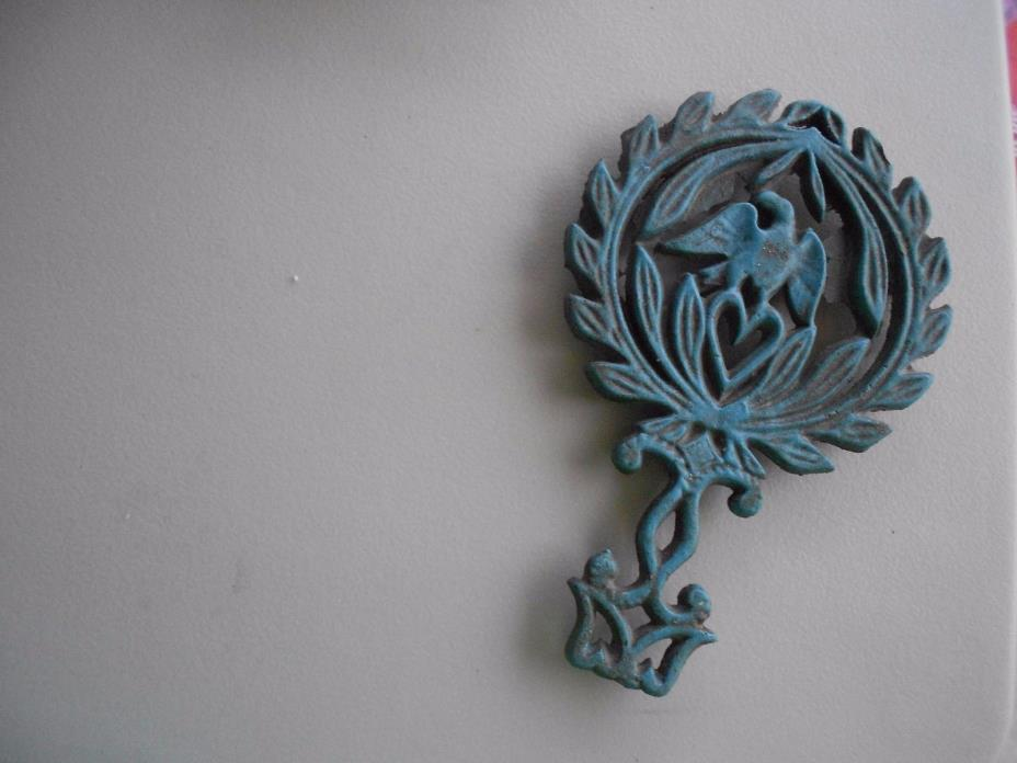 Collectible/ Vintage? Cast Iron Trivet-Wilton Eagle/ Heart