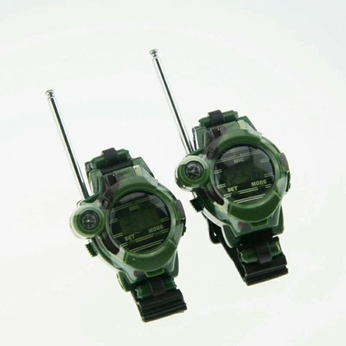1 Pair Toy Walkie Talkies Watches Walkie Talkie 7 in 1 Children Watch Radio...