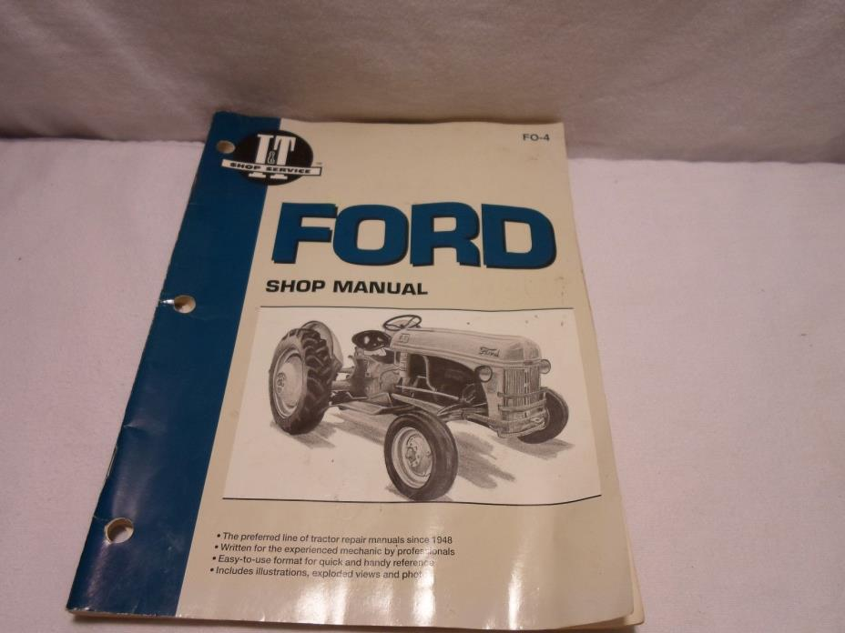 Ford Tractor Shop Manual FO-4 Models 2N 8N 9N