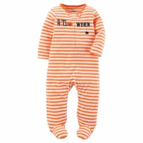 New Carter's Just One You My First Halloween Pumpkin Fall Sleeper Choose Size