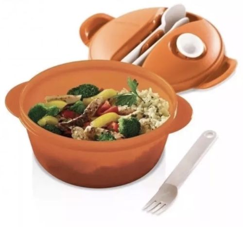 NEW TUPPERWARE - NIP CrystalWave Hot Food on the GO- Coral