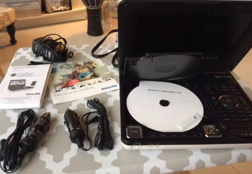"""Philips DCP855/37 7"""" Portable DVD Player with iPod docking -new -no box. Perfect"""