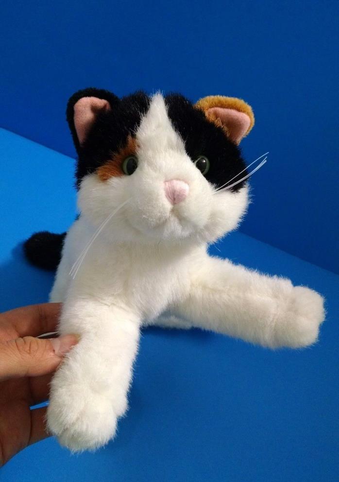 Dakin Purrs Calico Cat Orange&Black w/Green Eyes 10