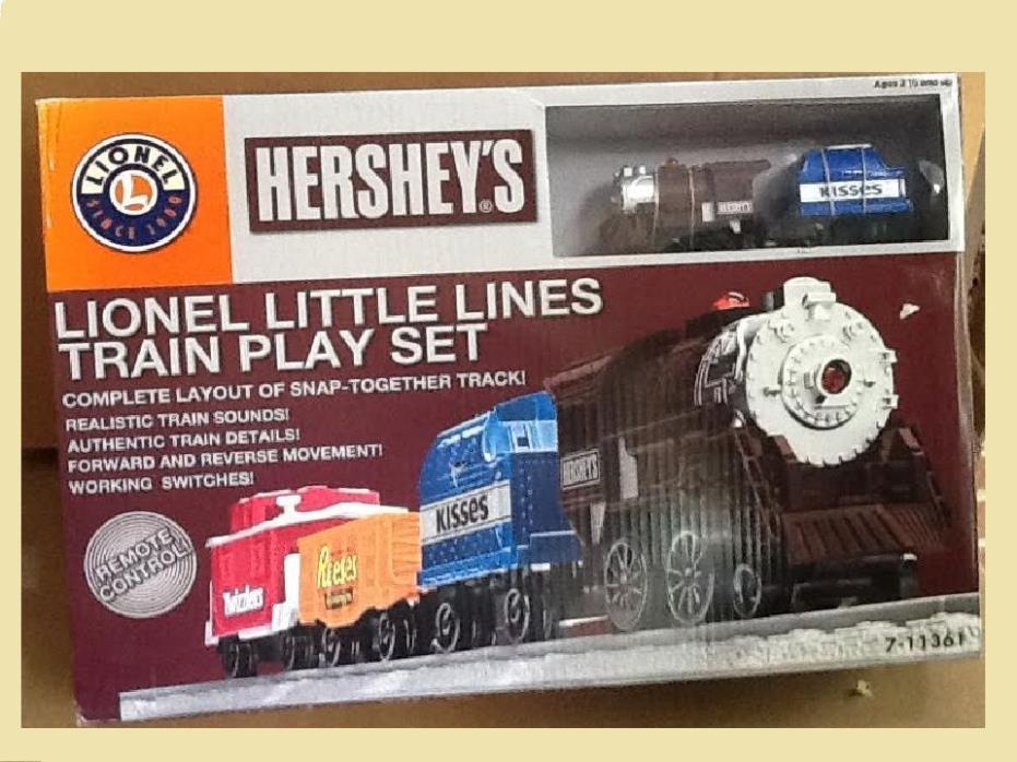 Lionel Little Lines Hershey's Train Set w/ Track