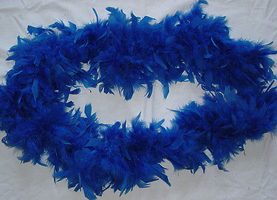 ROYAL BLUE  Feather Boa  Fabulous & Fluffy  COSTUME