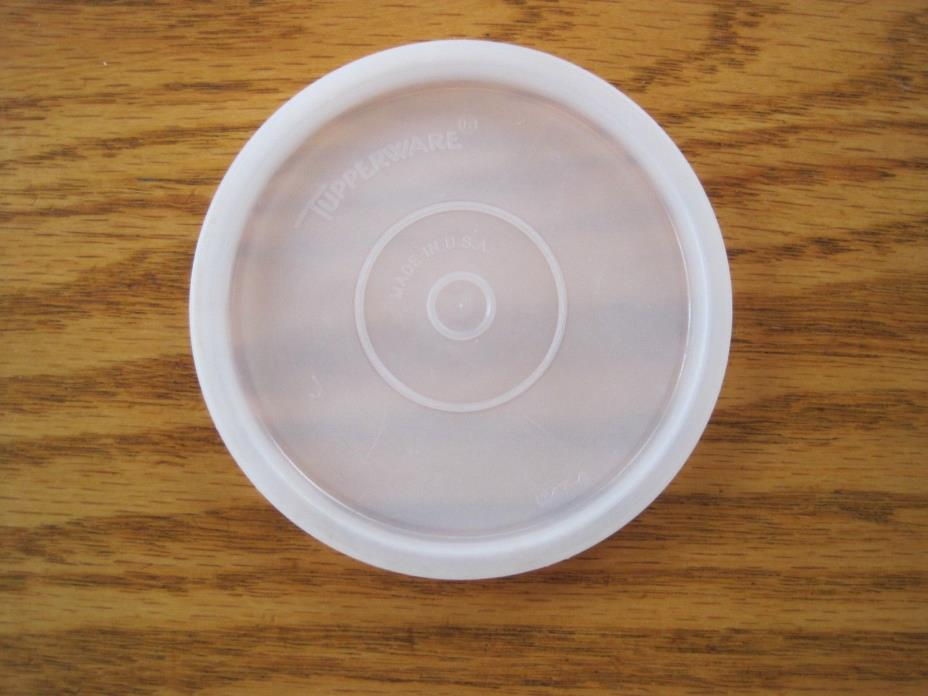HTF Vintage Tupperware #1347 Sheer J Replacement Clear Lid  Hard to Find