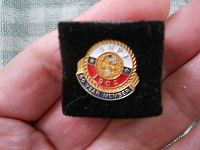 Vintage Lapel Pin-SNPJ 10K Gold Fill Diamond Chip- 60 Year Member-Slovenian