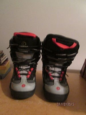 Rossignol Snowboard Boots Size 6 - Black & Red