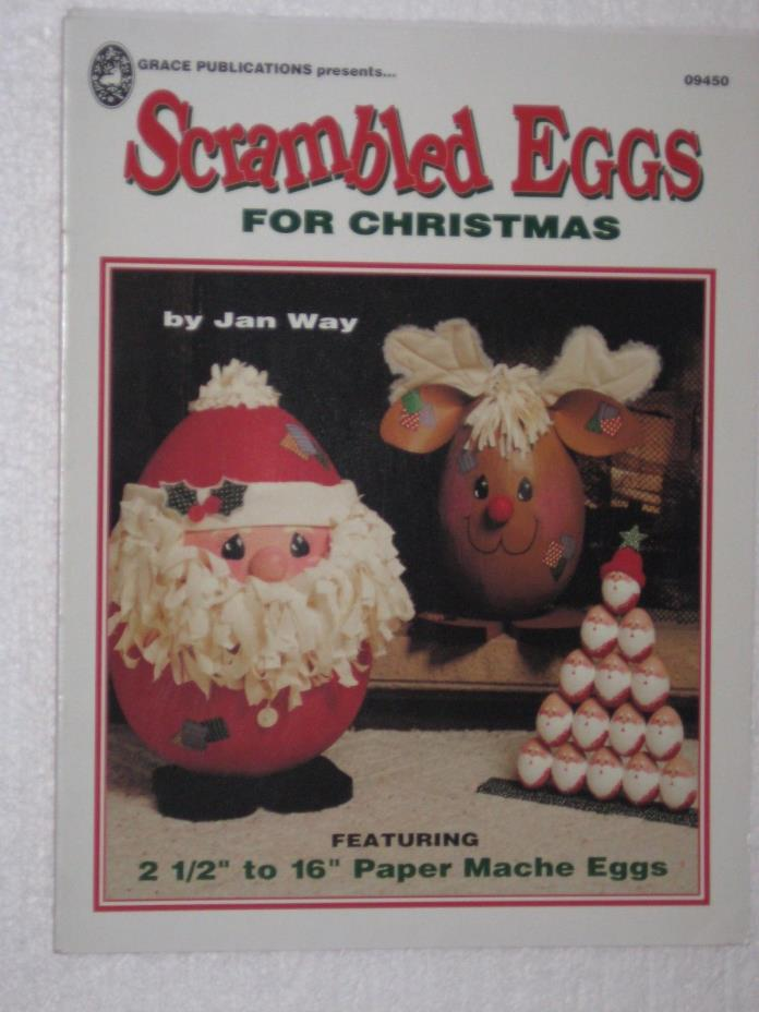 Scrambled Eggs For Christmas Jan Way Paper Mache Eggs Craft