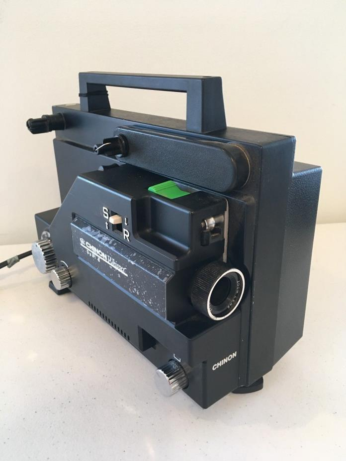 Vintage Chinon Whisper Dual 8MM (Super / Regular 8mm) Film Movie Projector 727