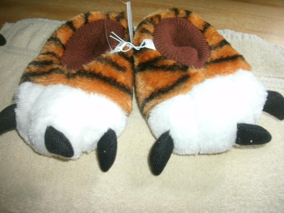 Childrens Tiger Paw Slippers New