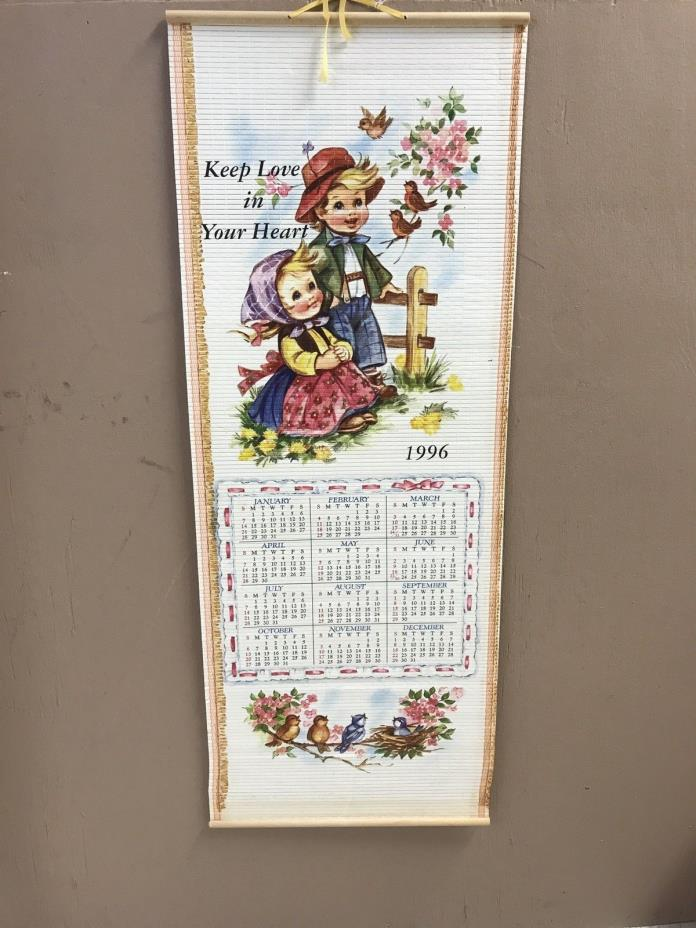 1995/1996 TWO-SIDED CAROL WRIGHT GIFTS CALENDAR.