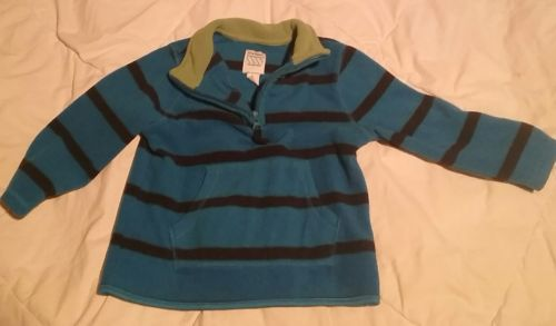 Boys Old Navy 1/2 Way Zip Up Striped Pullover 2T