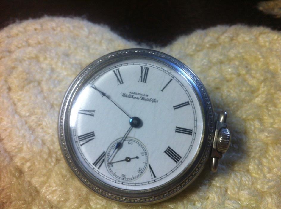 American Waltham pocket watch model 1883