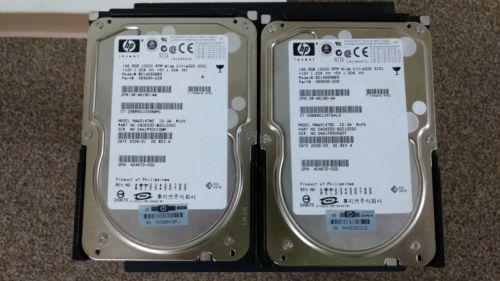 Lot of 2 HP Compaq 146 GB,Internal,10000 RPM,3.5