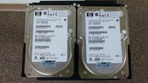 Lot of 2 HP Compaq 146 GB,Internal,10000 RPM,3.5