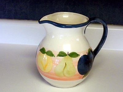 Water Juice Pitcher Large Santos Hand Painted White