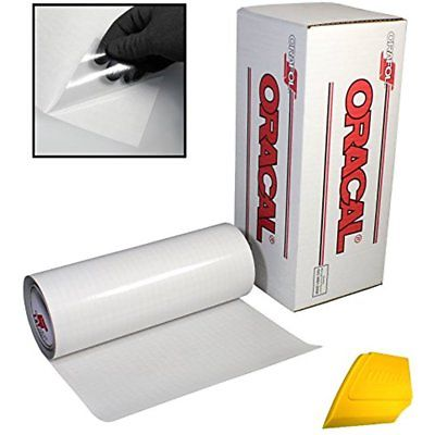 12 Inch Feet Grided Backing Paper Clear Tape Transfer Roll Vinyl