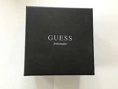 Guess Automatic Watch Case Holder Gift Box Inner and Outher Box with Pillow.
