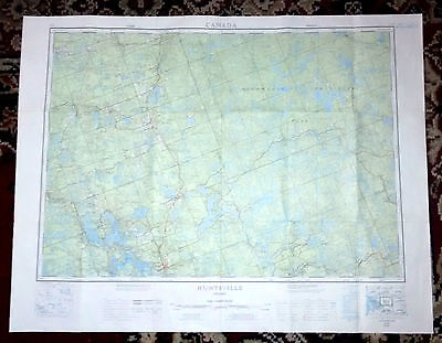 HUNTSVILLE, Ontario. Massive Map useful for Hiking, etc...Super Detail!
