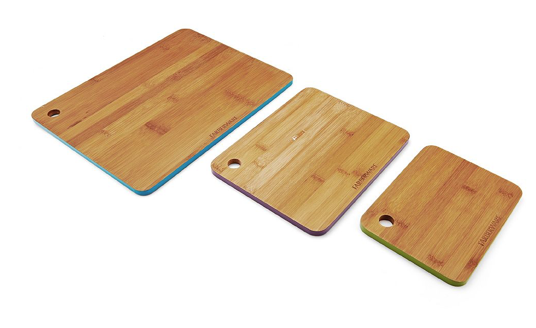 NEW Farberware 3-pc. Bamboo Cutting Board Set