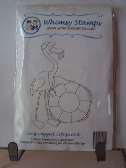 WHIMSY STAMPS  ''   ===  LONG  LEGGED  LIFEGUARD   ===