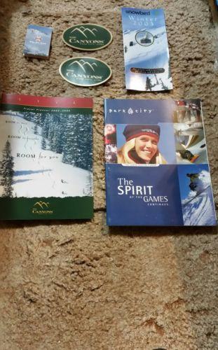Vintage Ski Brochures/Maps/Decals:Alta; Snowbird; Canyons;  Park City 2002-2003