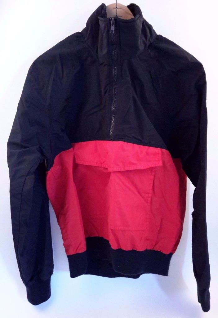 White Sierra Red Black Pullover Jacket Size M
