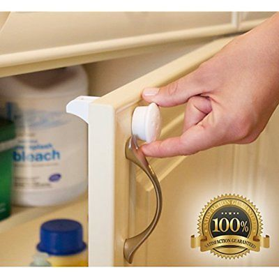 Magnetic Cabinet Locks Child Safety Kitchen Cabinets Drawers Baby Proof