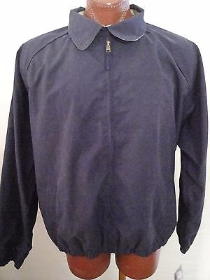 NWT $40 Woodlake Full Zip Navy Blue Nylon Windbreaker Jacket Size XL