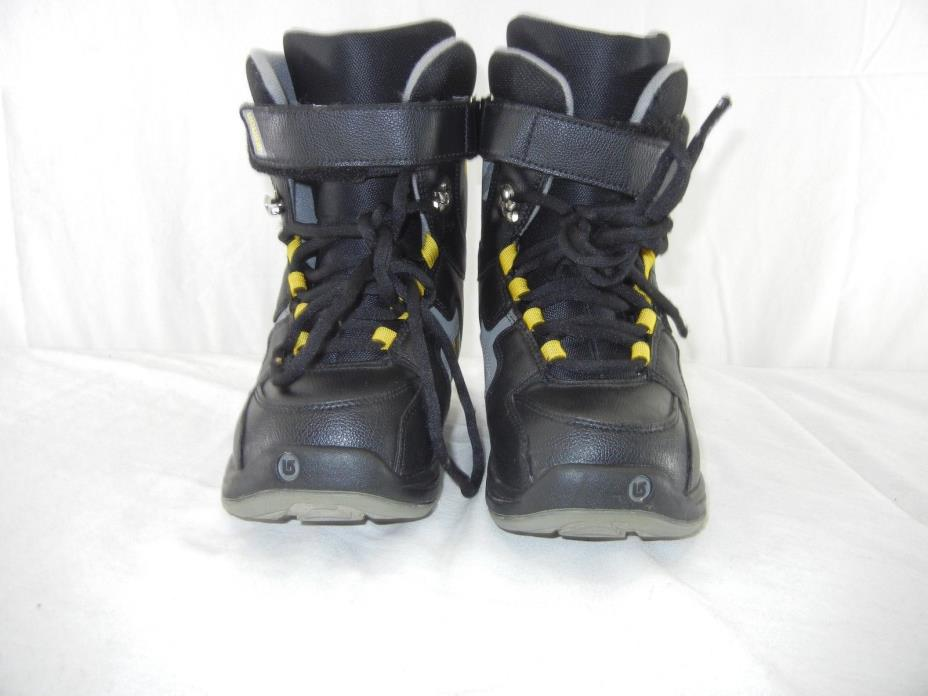 BURTON Freestyle Youth Kids Boys Girls Size 6 Freestyle Snowboard Boots Black