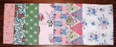 Vintage Floral Feedsack Fabric   7 ~  6