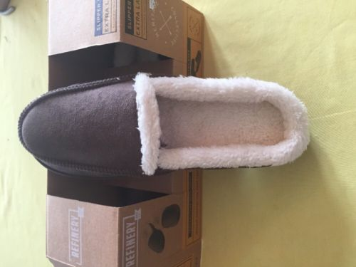 Men's/Women's NEW Refinery Slippers, brown, Memory Foam sz xl